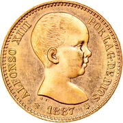 [878940] Coin, Spain, Alfonso Xiii, 20 Pesetas, 1887 1961, Madrid, Ms, Gold