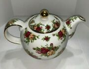 Vintage Royal Albert Old Country Roses Classic Teapot Signed Michael Doulton