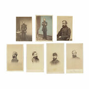 7 Rare Cdvs Of 1st Conn Heavy Artillery Colonel And General Henry Larcom Abbot