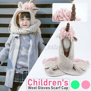 Toddler Crochet Winter Hat Scarf Hooded Knit Beanie Cosplay Photography Prop Cn