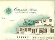 Compass Room Hyannis Inn Placemat 1961 Massachusetts At The Hub Of The Cape