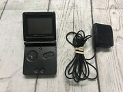Nintendo Gameboy Advance, Gba Sp Ags-001 Onyx Black System -- With A Charger --