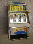 Vintage 13 Waco Jackpot Casino Seven 7 Slot Machine Toy Betting Odds Game Lucky