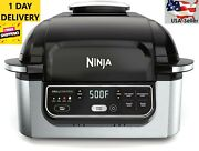 Ninja Foodi Ag301 5-in-1 Electric Countertop Grill With 4-quart Air Fryer, Usa