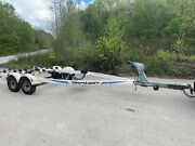 1999 Shorelandr Dual Axle Boat Bunk Trailer For 21and039-23and039 Boat