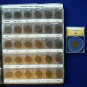 194 Coin Lincoln Cent Set 1909-1981- 1909s And Vdb/1922 No D/1914d Anacs Vg8/1931s