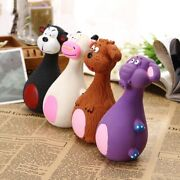 Dog Chew Squeaky Plush Squeaker Toy Doggie Sound Playing Pet Puppy Animal Shape