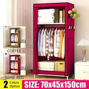 59and039and039portable Closet Storage Organizer Rack Wardrobe Clothes Rack With Shelves Us