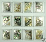 China New Year 12 Zodiac Stamp Made By Real Shell Carving With Laser Markings