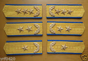 Rare China Air Force General Epaulets Shoulder Boards 3 Sets87and039s