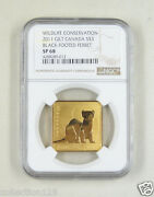 Canada Silver Gilt Coin 3 Dollars 2011,black-footed Ferret, Ngc Sp 68