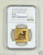 Canada Silver Gilt Coin 3 Dollars 2011black-footed Ferret Ngc Sp 68