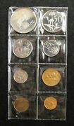 South Africa Coins Set Of 8 Pieces 1978 1/2 Cent - Silver 1 Rand