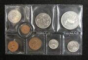 South Africa Coins Mint Set Of 8 Pieces 1975 1/2 Cent - Silver 1 Rand