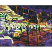 Michael Flohr Cappuccino W/friends Enhanced Giclee Canvas S/n-coa-sold Out