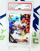 2016 Topps Chrome Refractor 150 Corey Seager Dodgers Rc Rookie Psa 10 Gem Mint