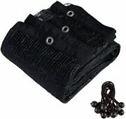 Cerbior 90 Sunblock Shade Cloth With Grommets For Garden Patio Panel Black