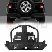 Steel Rear Bumper And Spare Tire Carrier W/o Oil Drums For 07-18 Jeep Wrangler Jk