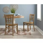 Linon Flint Beech Wood Set Of Two Side Chairs In Natural