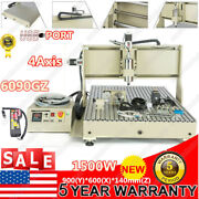 1.5kw Usb 4axis Usb 6090 Cnc Router Engraver 3d Desktop Carving With Controller