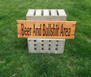 Beer And Bullshit Area Rustic Carved Wood Man Cave Sign Beer Wooden Signs