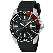 Menand039s Pro Diver Analog Blk And Red Bezel Quartz Black Silicone Watch 21392