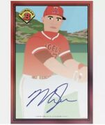 Preorder Mike Trout On Card Auto /10 Topps 1989 Bowman X Keith Shore Ssp Angels