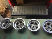 Vintage 1960andrsquos Et Super 15 X 8 15 X 10 Aluminum 5 Spoke Mag Wheels Set Of 4 Day2
