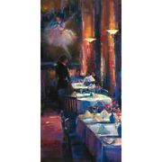 Michael Flohr Lunch With Degas 45x22 Enhanced Giclee Canvas S/nw/coa-offer