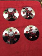 """Vintage 1970's Nos Mickey Thompson M/t 15"""" Chrome Center Covers Set Of 4 Ford"""