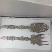 Antique Silver Spoon And Fork Big, Silver From Holland ,nice Collector Item