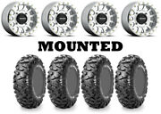 Kit 4 Maxxis Bighorn Radial Tires 30x10-14 On Method 401 Beadlock Machined Can