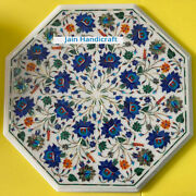 2and039x2and039 Antique White Marble Table Top Dining Coffee Center Inlay Pietra Dura T