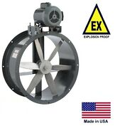 Tube Axial Duct Fan - Belt Drive - Explosion Proof - 24 - 115/230v - 7425 Cfm