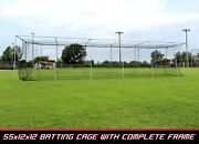 New Cimarron 55x12x12 24 Batting Cage And Complete Frame Hd