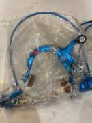 Nos Vintage Dia Compe Mx 1000 And 900 Front And Rear Brake Kit In Blue