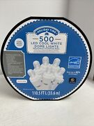 New Holiday Time 500 Led Cool White Dome Christmas Lights Storage Reel 2 X 250