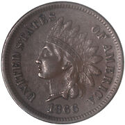1866 Indian Head Cent About Uncirculated Penny Au See Pics G863