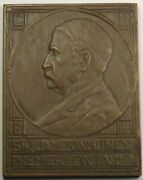1814-1914 Century Of Peace Canada United States Bronze Exhibition Medal 43x55mm