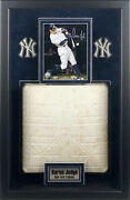 Aaron Judge Autographed 8x10 Photo Framed With Game Used Base Fanatics Steiner