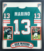 Dan Marino Signed Autographed Miami Dolphins Jersey Deluxe Framed Tristar