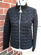 Moncler Runway Black Wool Lace Outer Fabric Down Lined Jacket Xs Bnwt 2,400