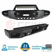 Complete Steel Front Rear Bumper W Led Lights For Chevy Silverado 2500 2015-2017