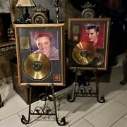 Elvis Presley Le 24k Gold Plated Number One Hits And Top Ten Records Picture Set