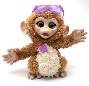 Furreal Friends Monkey Baby Cuddles Giggly Pet Plush Interactive Toy Works
