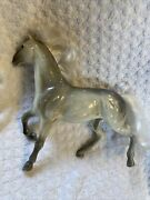 1996 M.t.h.k. Approx Large 9x9 Gray Horse Plastic Toy Figurine