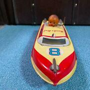 Marusan Thunderbird Boat Tin Toy Retro Collectible Made In Japan Free Shipping
