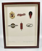 Rare Oldsmobile Emblem Display Badges Of Honor Dealer Thank You Award 100 Made