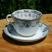 Antique Jackson And Gosling Cup Of Knowledge Fortune Telling Teacup Grosvenor Ci