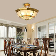 6-light Style Ceiling Lamps Stained Glass Flush Handmade Chandeliers